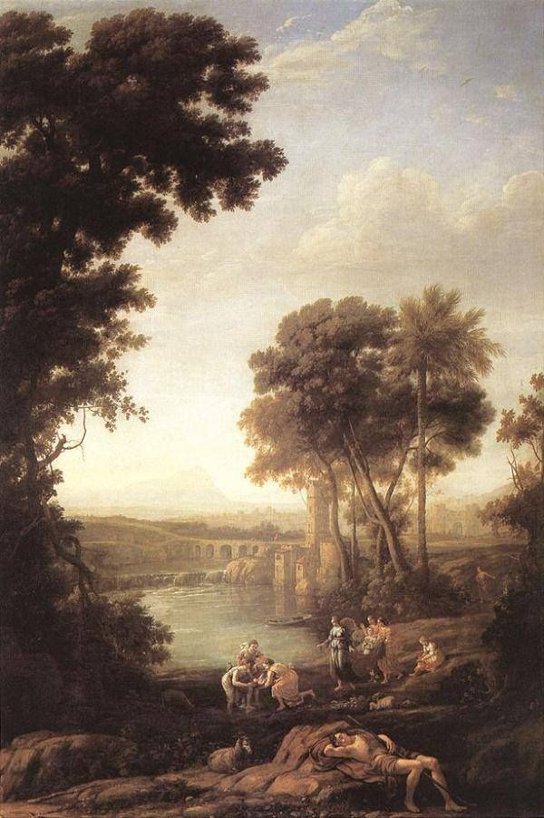 CLAUDE Lorrain The salvation of Moses. 1637.