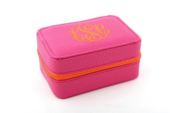 Personalized Jewelry Box - Travel Jewelry Case - Monogrammed Jewelry Box - 3 X 5 inch Jewelry Box