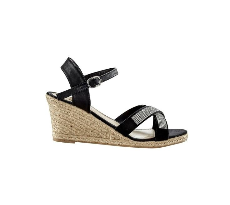 Štrasové sandále na klinovom podpätku | blancheporte.sk #blancheporte #blancheporteSK #blancheporte_sk #sandals #shoes #topanky