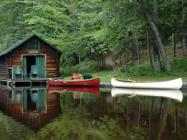 : Canoeing, Favorite Places, Dreams, Lakes Cabins, Lakes Houses, Peace, Outdoor, Boathouse, Logs Cabins