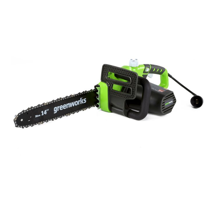 14 9-Amp 20222 Electric Chainsaw - GreenWorks, Exotic Green