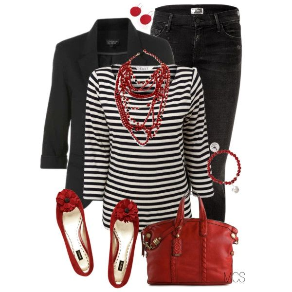 Red and Black by mclaires on Polyvore