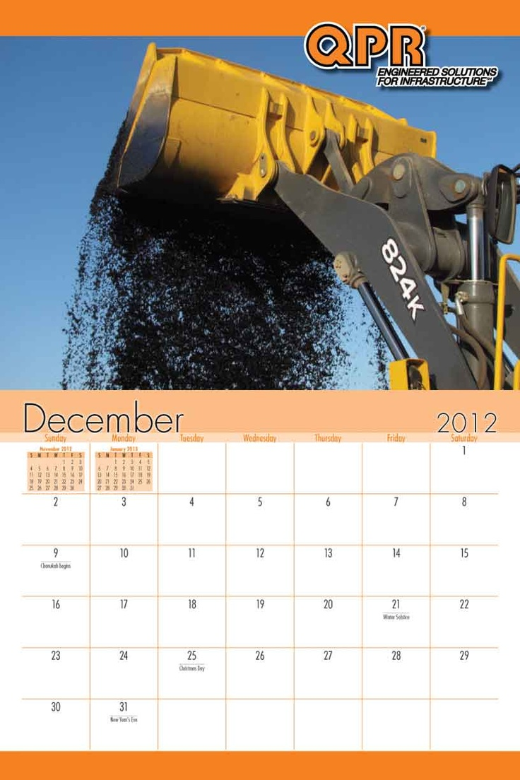 QPR's annual calendar features it's products in production and in use. It's a great way for the company to stay connected to its distributors. #customized #promotional #calendar www.yearbox.com