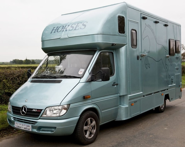 This 2004 #Mercedes #horsebox carries up to two horses | For sale on #HorseDeals
