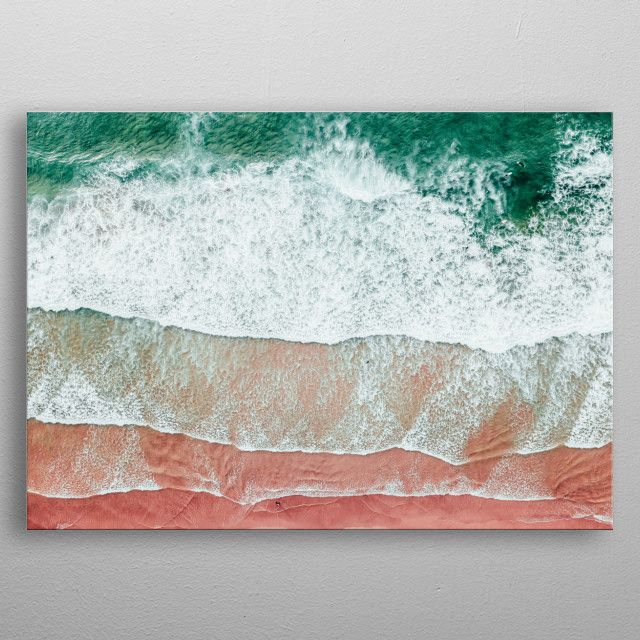 Aerial Beach Landscape Nature Poster Print Metal Posters In 2020