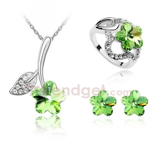 Amazing Austria Crystal White Gold Plated Fashion Jewelry Sets