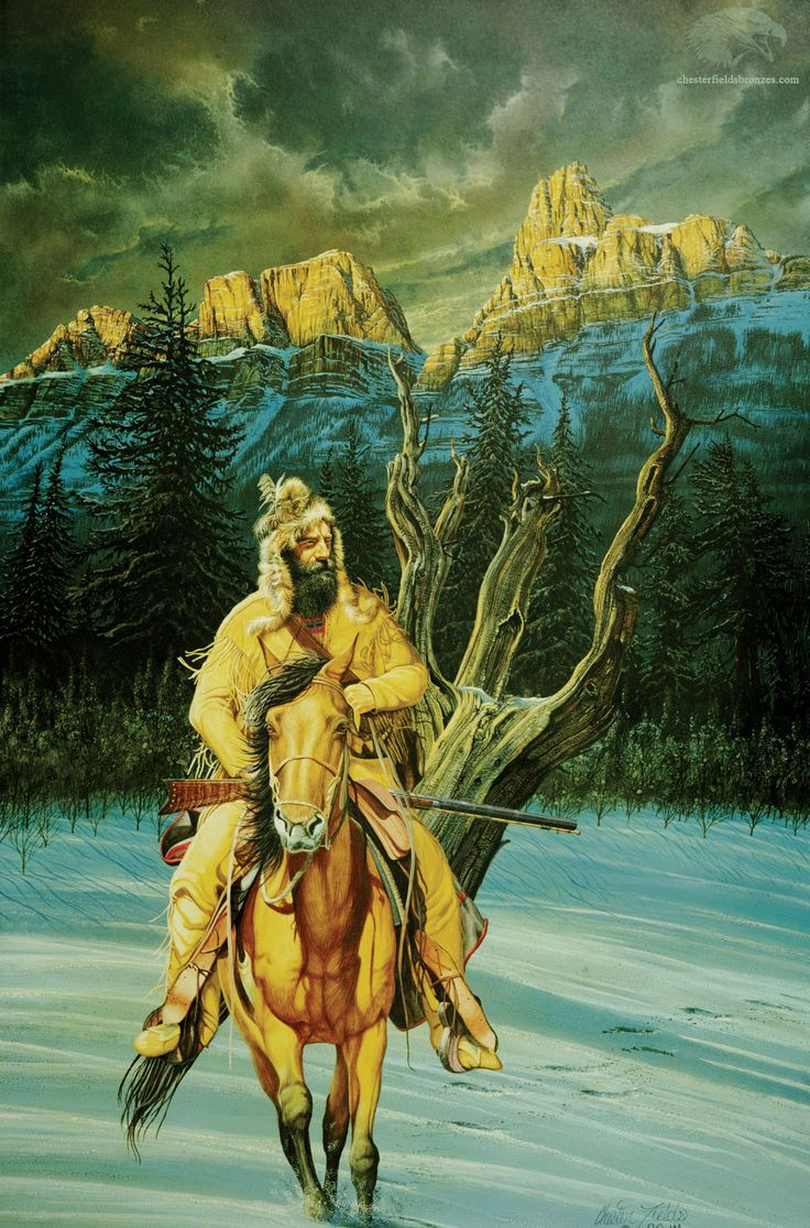 "art painting mountain men   Jedidiah""   Fine Art Mountain Man Painting"