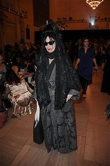 Diane Pernet attends Hendrik Vermeulen show during Spring 2016 New York Fashion Week at Vanderbilt Hall