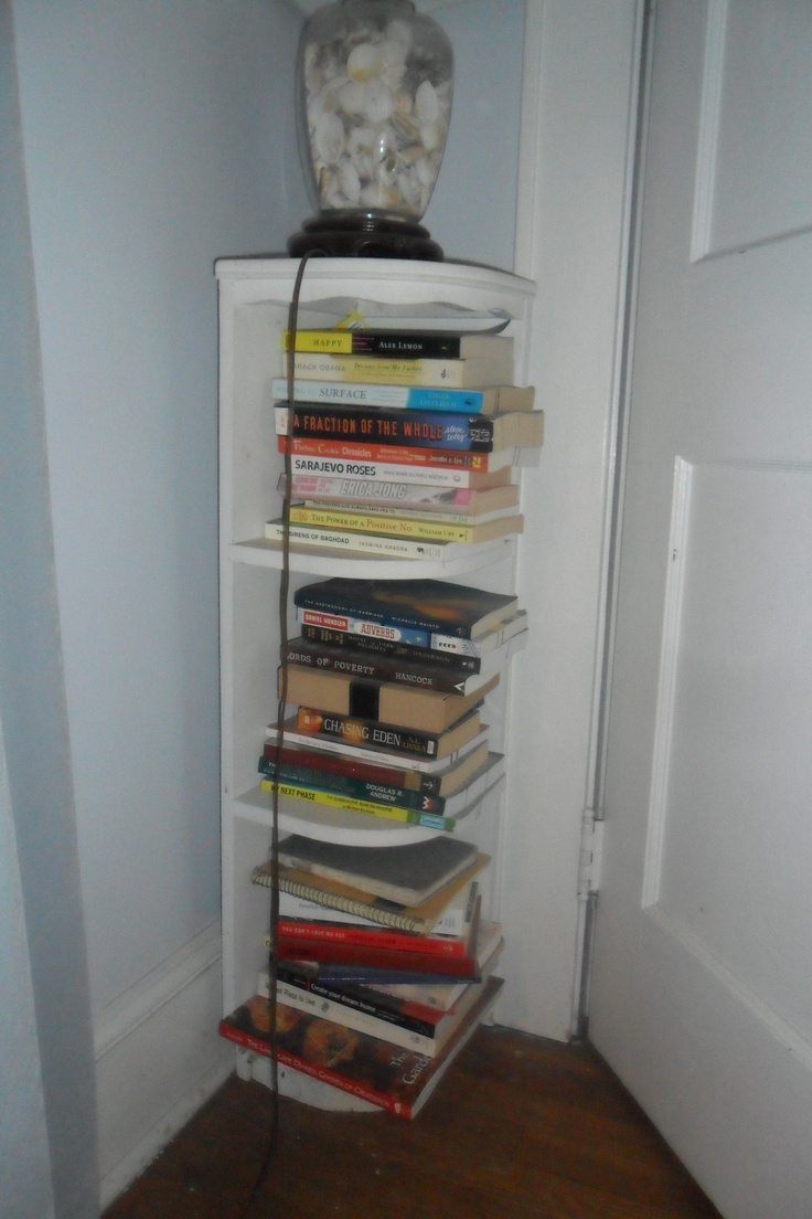 You can fit a bookshelf anywhere! Even in that tiny space between your door & the wall.