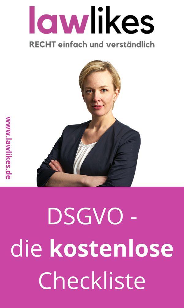 Hier findest du meine kostenlose Last-Minute Checkliste zur DSGVO. Ich hoffe du bekommst so einen Überblick, was du noch tun musst.  Mein Name ist Sabrina Keese-Haufs, in bin seit 9 Jahren Rechtsanwältin und nach mehreren Stationen als Angestellte bin ich seit einigen Jahren selbstständig tätig.   #lawlikes #rechtstipp #DSGVO #Datenschutz #Datenschutzgrundverordnung #Checkliste