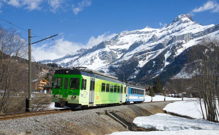 Chemin de fer Aigle - Sépey - Diablerets (ASD) / Transports Publics du Chablais (TPC),  BDe 4/4 401, Les Diablerets (VD)