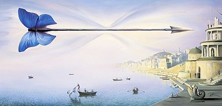 """Arrow Of Time"" by Vladimir Kush, another piece I have in my collection!"