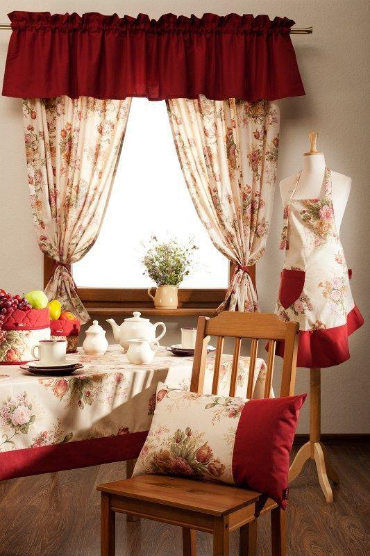 #kwiaty #flowers #decoration #dekoracje #dom #home  Komplet English Garden zasłony + lambrekin, komplet - Dekoria