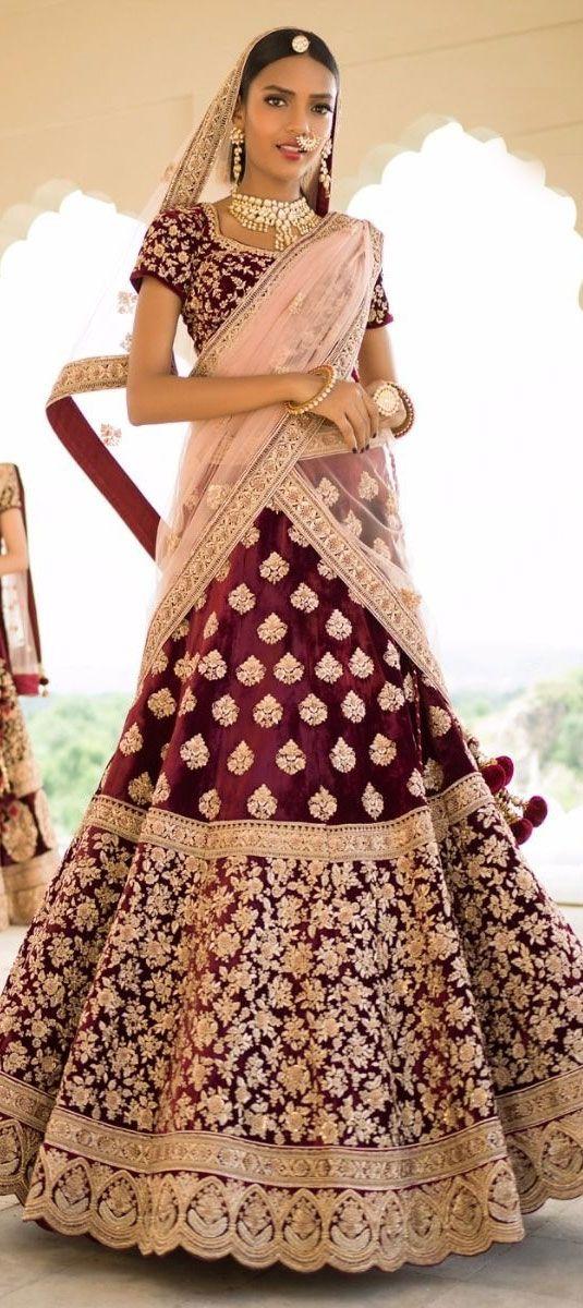 766419 Red and Maroon color family Brides maid Lehenga, Mehendi & Sangeet Lehenga in Velvet fabric with Machine Embroidery, Thread, Zari work .