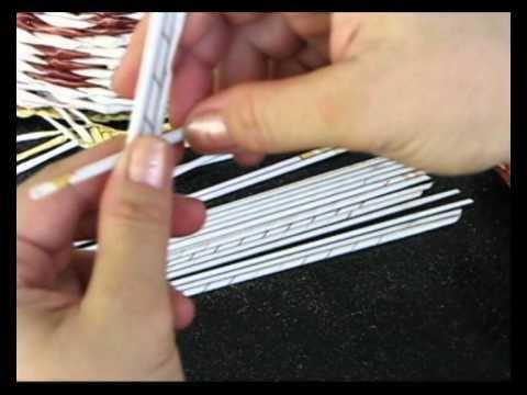 Плоское плетение из газет