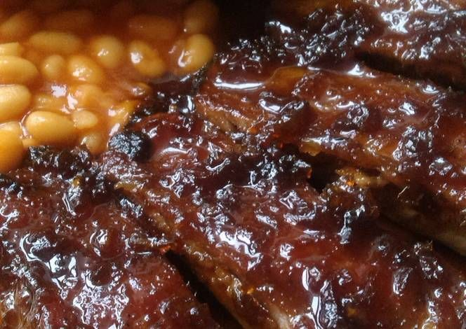 Vickys Slow Baked Ribs Recipe -  Yummy this dish is very delicous. Let's make Vickys Slow Baked Ribs in your home!