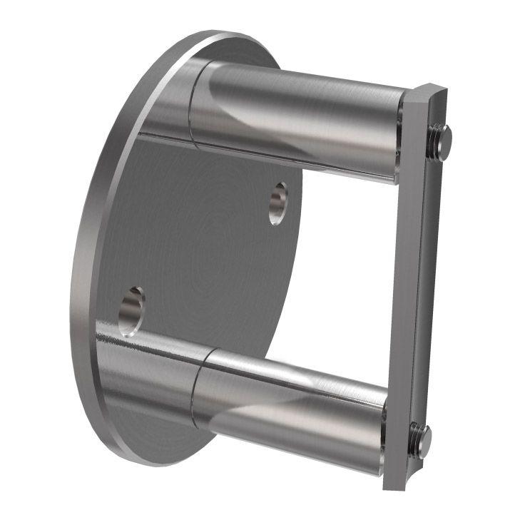 Element mocujący dla Słupek prawy Ø42,4 mm, 4 szt. uchwytów do szkła, szlifowany K320, AISI 304