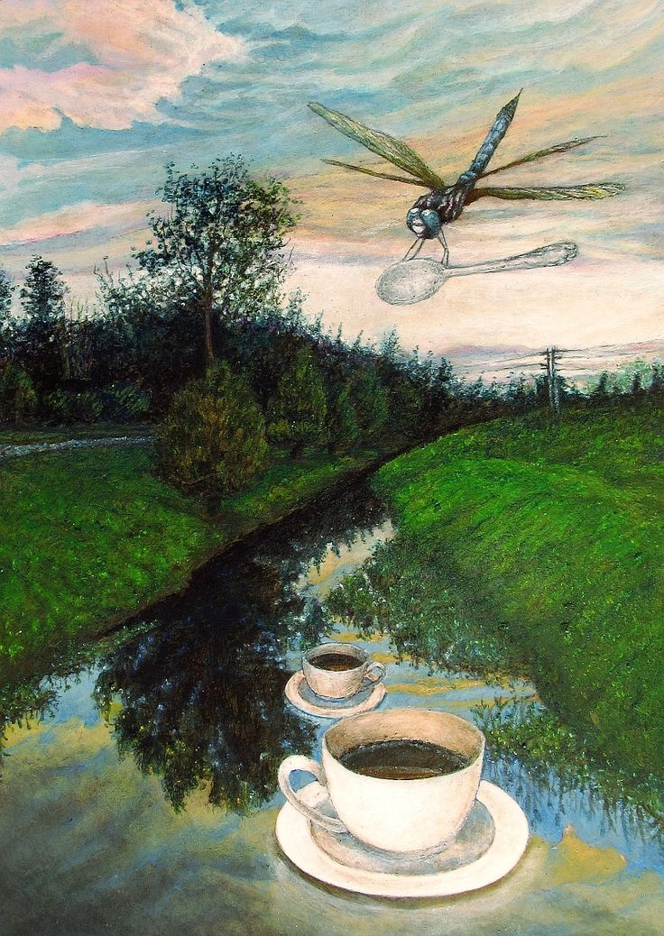 SERVED OUTDOOR | 21 x 27 cm | Acrylic Paint and Watercolour Pencils On Hardboard | ® Krzysztof Polaczenko 2015