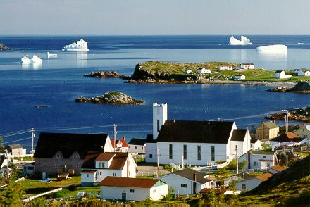 Twillingate, Newfoundland. Just for the name, and also the icebergs.