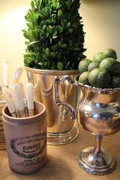 Decorating with Silver Platters   ... Silver Containers Vintage Silver: Everyday Decorating Ideas