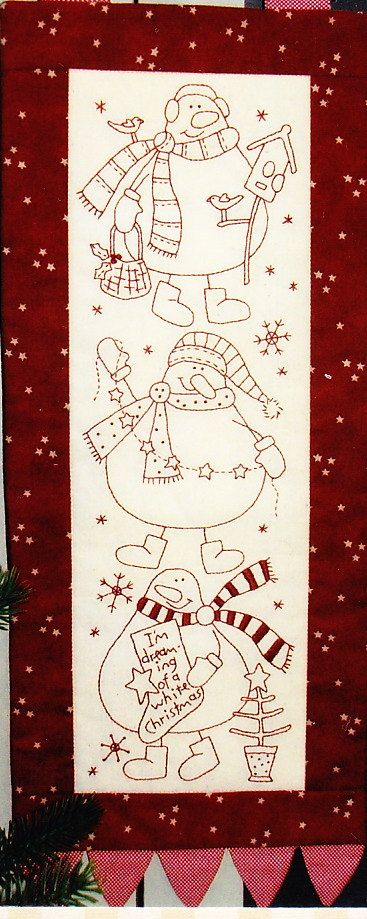 Snow Buddies quick and easy Christmas stitchery PATTERN by kate54, $19.95