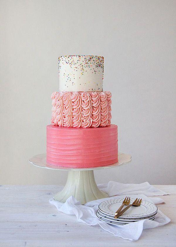 Pink-sprinkles-wedding-cake