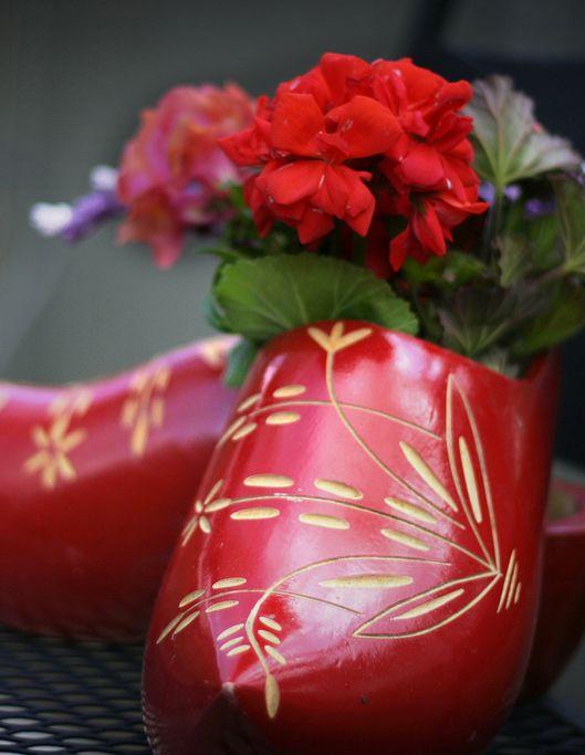 Red Clogs by Kay Ellen Designs