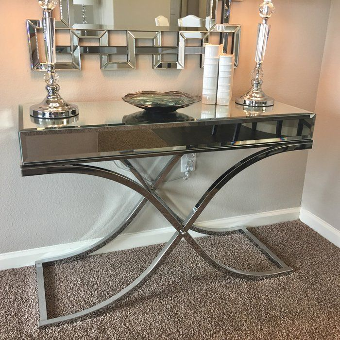 Jeannie Mirrored Console Table Mirrored Console Table Console