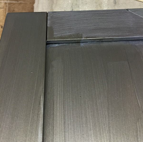 Paint Metal Kitchen Cabinets: Brushed Steel Over Silver