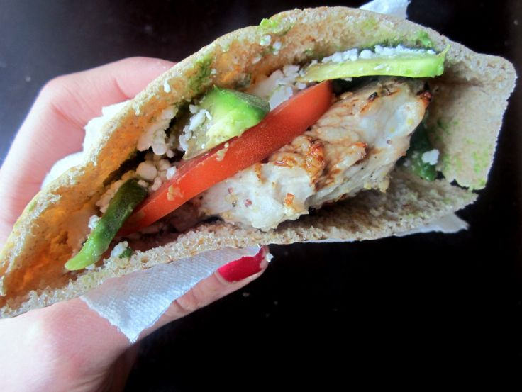Turkey Burger Pitas with Avocado & Feta