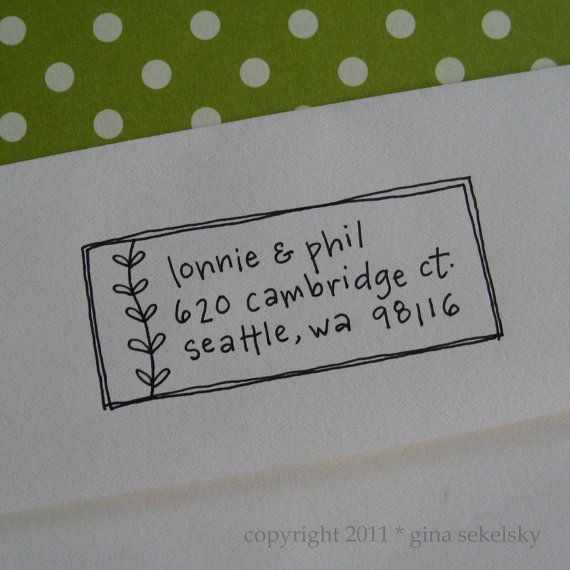 Envelope addresses!  Too cute... maybe this would make up for my bad handwriting :P