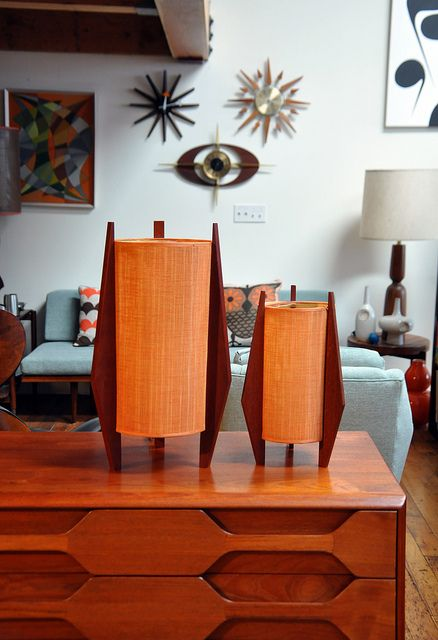 Mid-century lamp collection
