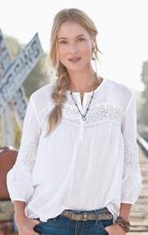 A nice, fresh white blouse.  #RogersWinterWhites