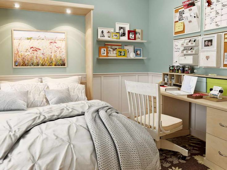 bed desk diy murphy bed ikea with wall shelves make a simple room by