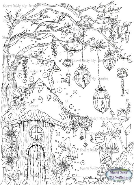 Instant Download My Besties ~ MORE THEN A Digi~ NEW COLORING BOOK PRINTABLE PAGE that you can Print over and over again to color up! Magical Place 1 – Tamesis