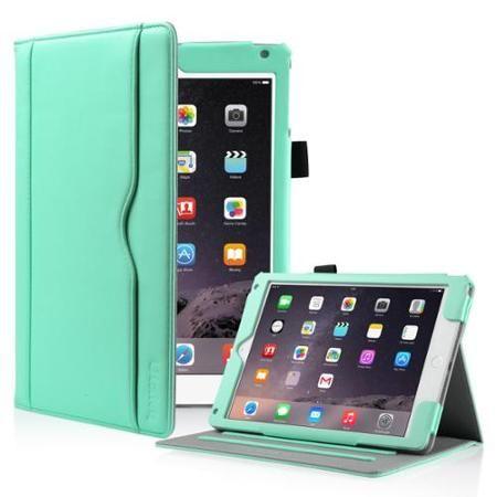 $15 ULAK iPad Air Case, iPad Air 2 Case - [Business Series] Premium PU Leather Case Cover Auto Wake/Sleep Feature for Apple iPad Air (iPad 5) and Apple iPad Air 2 (iPad 6) w/ Hand Strap (Mint Green) - Walmart.com