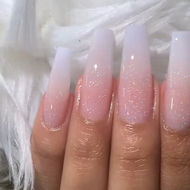 Mikey Thao On Instagram Classic Ombre This Set Look So Elegant Texasnailsandspa Ombre Acrylic Nails Long Acrylic Nails Long Nails