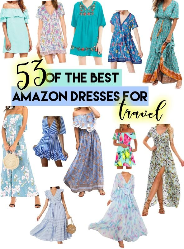 53 Of The Best Amazon Dresses For Travel Amazon Dresses Travel Clothes Women Shopping Outfit