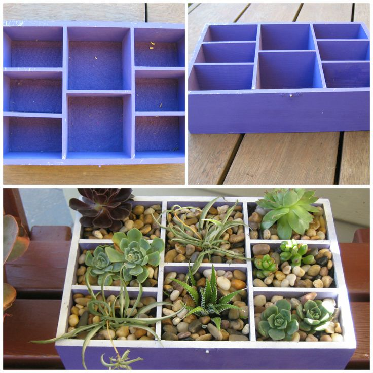 Recycled Purple box transformation.....