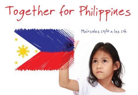 Filipinas se encuentra en una situación terrible. Ayúdales y únete al evento  solidario 'Together for Philippines' ow.ly/r4Lsn.   DÍA: 27/11/2013  HORA: 21H  Para más información, hacer clic en el enlace. ¡Únete!  #Filipinas #Philippines #ONG #Ayuda