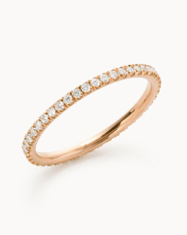 The Prettiest Delicate Wedding Bands For Modern Brides Delicate Wedding Band Halo Engagement Ring Wedding Band Couple Wedding Rings