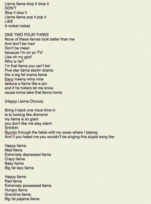 The llama song part 2- Twaimz