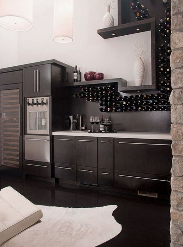 Stylish Wine Storage Ideas: Fancy Kitchen Wine Stand Design Ideas