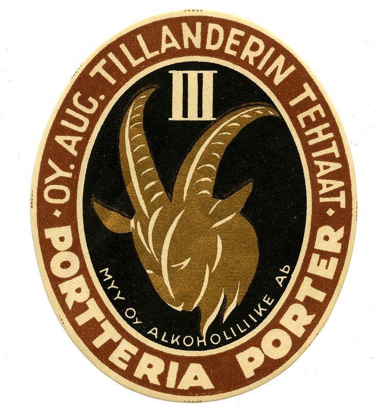 Portteria, Oy. Aug. Tillanderin tehtaat, #olut #etiketit #beer #labels