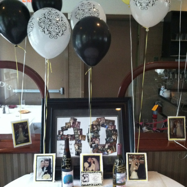 40th Anniversary Party. With Wedding Pictures Of Every