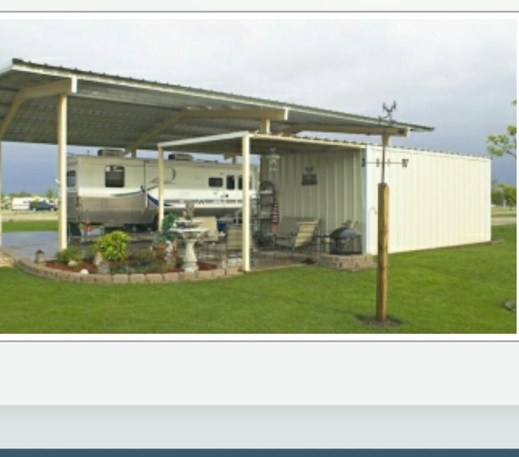 Rv carport and storage area pinteres for Small metal houses