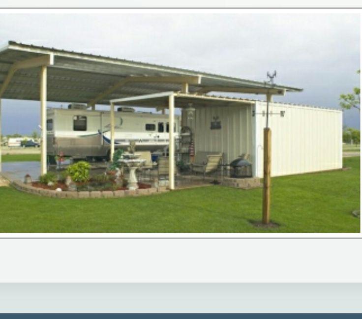 Rv Carport And Storage Area Pinteres