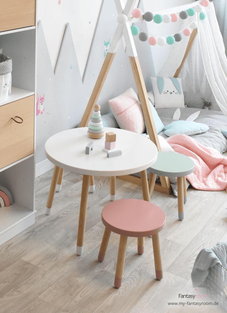 Tabourets et tables pour enfants pour jouer, peindre et bricoler   – Shop the Look