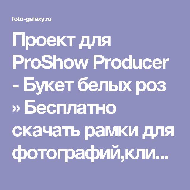 Проект для ProShow Producer - Букет белых роз » Бесплатно скачать рамки для фотографий,клипарт,шрифты,шаблоны для Photoshop,костюмы,рамки для фотошопа,обои,фоторамки,DVD обложки,футажи,свадебные футажи,детские футажи,школьные футажи,видеоредакторы,видеоуроки,скрап-наборы