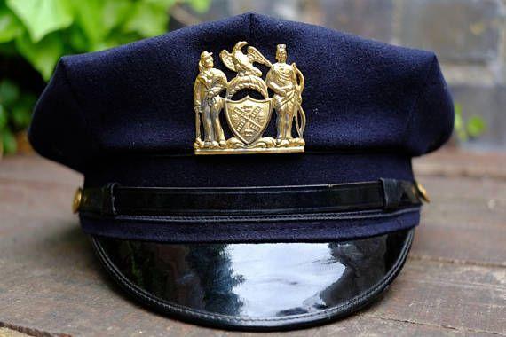 Authentic Vintage Mid 20th Century NYPD Gravenette Police Cap